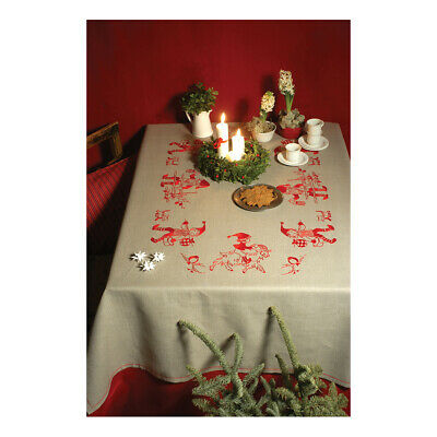 ANCHOR | Embroidery Kit: Santa Elves in a Ring - Linen Tablecloth | 92400004530