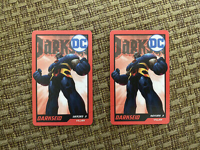 ROUND 1 ARCADE RARE DARKSEID CARD SET OF 2 From DC Coin Pusher Game