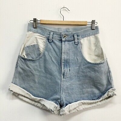 Vintage 90's Target High Waisted Shorts Fabric Detail Turn Ups Size 10 12