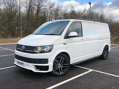 2018 VW TRANSPORTER T6 150 DSG AUTO LWB LOWERED ON 20's 1 OWNER FSH *ONLY 16K*