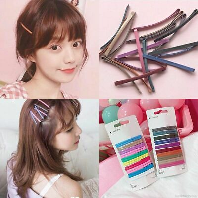 Chic 20pcs/set Women Geometric Candy Color Hair Clips Pins Party Gift