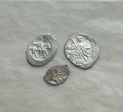 Lot of 3 Medieval silver coin Ancient Vikings of Kievan Rus