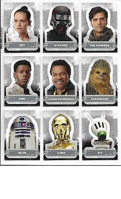 2019 Topps Star Wars - Rise of Skywalker - Complete Sticker set of 19