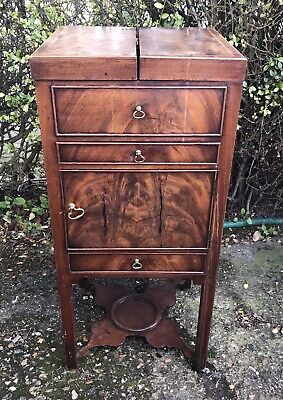 Antique Regency Georgian Mahogany Gents Washstand