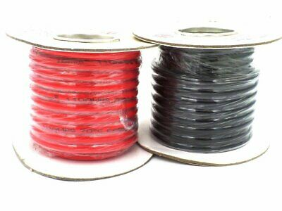 25m Tri rated Black 21amp 1.5mm panel wire car van 12v automotive dc loom cable