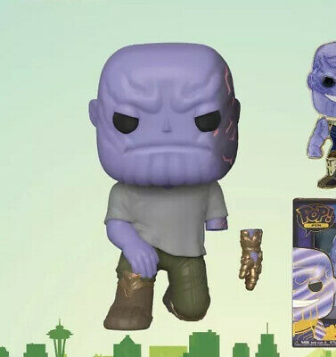 2020 Funko Pop Marvel ECCC OFFICIAL STICKER Thanos W/ Removable Glove Presale