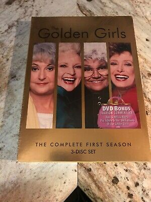 Sealed The Golden Girls - The Complete First Season (DVD, 2004, 3-Disc Set)