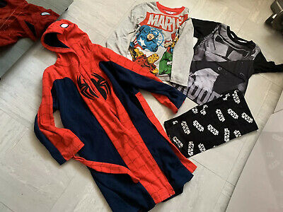Boys Star Wars Pj And Spiderman Dressing Gown Age 9-10