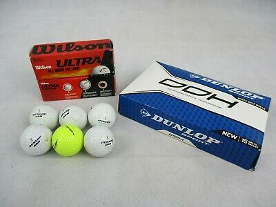 25 Golf Balls New and Used New Boxed Wilson Mixed Boxed Of New & Used Dunlop