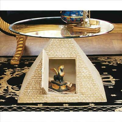 27.5 Ancient Egyptian Pyramid with Hidden Compartment Decorative Glass top Table