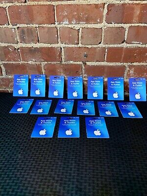 NEW NEVER USED LOT OF 16 Apple iTunes card NO VALUE $15-$200 FREE SHIP AUTHENTIC