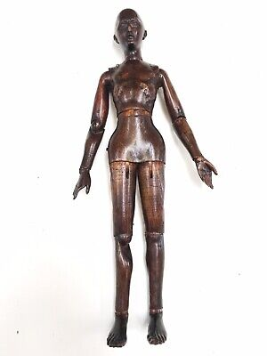 Antique (1860-1880) Carved Wood Artist's Articulated Mannequin Figure
