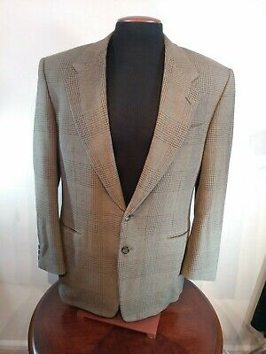 Canali For Bloomingdales Sports Coat Mens 50R Brown Wool Milano Italy 2 buttons
