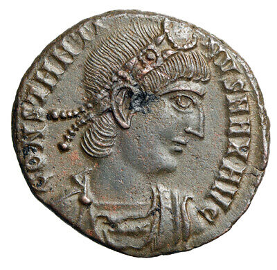 """Constantine I The Great """"Interesting Portrait & Soldiers"""" Nicomedia EF"""