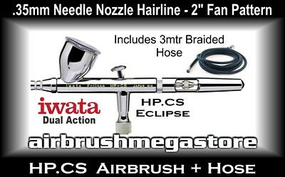Eclipse Airbrush HP.CS .35mm Inc: 3mtr Braided Hose + Free Insured Post