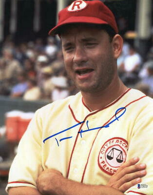 Tom Hanks Signed 11X14 Photo A League Of Their Own Authentic Autograph Beckett B