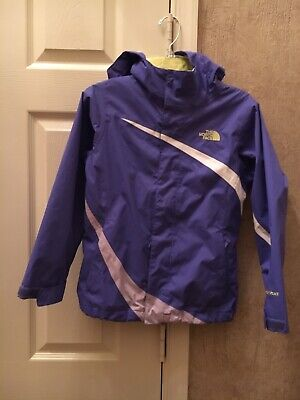 Girls The North Face Hyvent Full Zip Hooded Rain/Wind Jacket Size S (7-8)