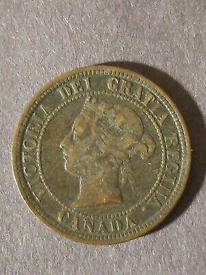 1876 Canadian One Cent Coin