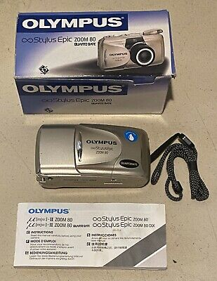 Olympus Stylus Epic Zoom 80 35mm Camera Multi AF All Weather 38-80mm Tested