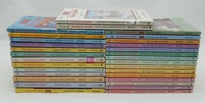 Lot of 30 Boxcar Childrens Chapter Books No Duplicates - Many High Numbers 60+