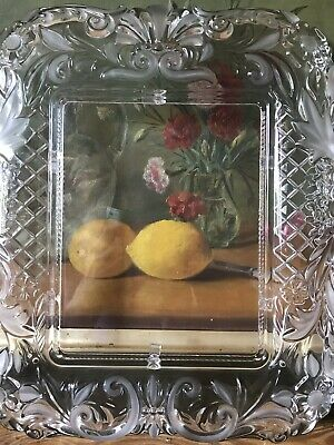 Gorgeous Large Arts And Crafts Glass art nouveau Style Picture Frame