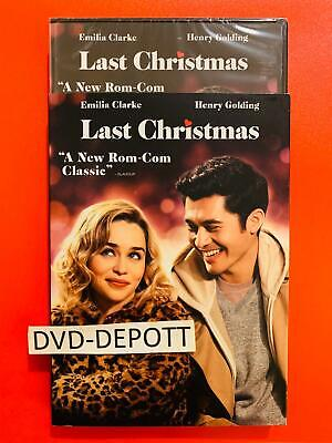 Last Christmas DVD & Slipcover (Emma Thompson) AUTHENTIC New FAST Free Shipping