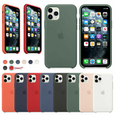 Original Silicona Genuina Funda Para iPhone 11 Pro X XR XS Max 8 7 6 Plus Case