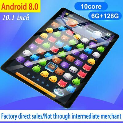 10.1 inch 6G+128G HD WiFi Tablet Android 8.0 Bluetooth Game Tablet Dual SIM Card