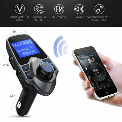 Wireless Bluetooth FM Transmitter LCD Car MP3 AUX USB Disk Charging Handsfree