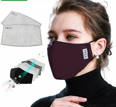 Face Masks Cotton Pm2.5 Black Anti Dust Activted Mouth Muffle Flu Care Maska