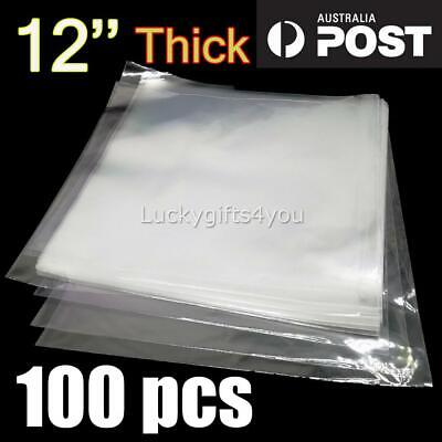 """100 x LP 12"""" CLEAR CLARITY OUTER COVER SLEEVES FOR VINYL RECORDS THICK 80um"""
