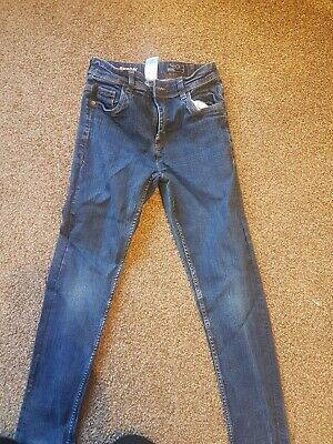 Boys Next Blue Whiskered Denim Adjustable Waist Skinny Jeans Age 10 Years