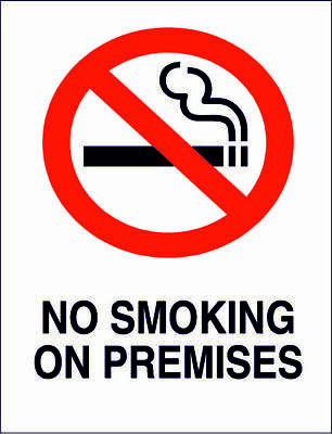 """No smoking no naked lights 8x10/"""" Metal Sign Safety Plant Facility Business #201"""