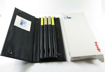 Rotring 600 Leather Pen Case for 4 Pens with original Packaging, new old stock