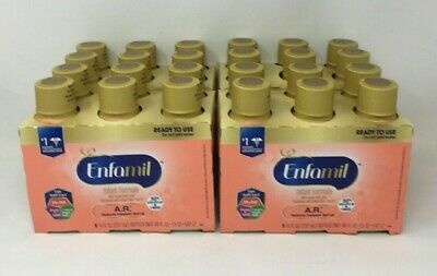 ~LOT OF 24 ENFAMIL A.R.READY TO FEED BABY FORMULA~8 oz BOTTLES~ANTI SPIT UP~~