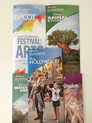2020 ALL Walt Disney World Park Guides Map 🎆 inc Water Parks BRAND NEW!