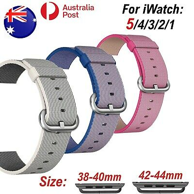 Band For iWatch Woven Nylon Strap Apple Watch 5/4/3/2/1 Sports Bracelet 38/42 mm