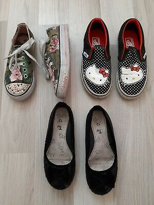 M/&S Girls Hello Kitty Grip Sole Uk Child 12 Riptape Trainers Shoes BNWT