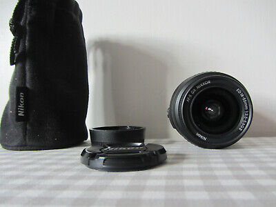 Nikon AF-S DX Nikkor 18-55mm ED F/3.5-5.6GII Zoom Lens with Hood, Excellent