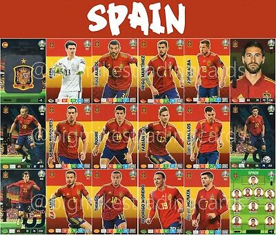 Panini Adrenalyn Xl Uefa Euro 2020 Spain Full 18 Card Team Set - Euros