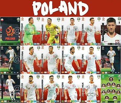 Panini Adrenalyn Xl Uefa Euro 2020 Poland Full 18 Card Team Set - Euros