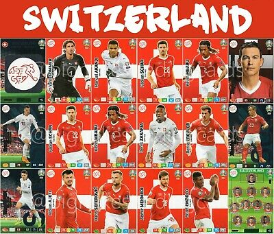 Panini Adrenalyn Xl Uefa Euro 2020 Switzerland Full 18 Card Team Set - Euros
