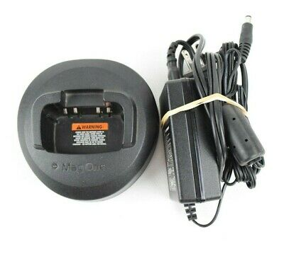 Motorola MagOne Radio Charger PMLN5041A Base and Adapter