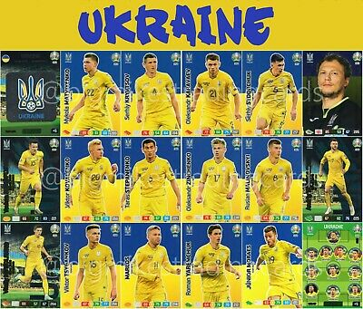 Panini Adrenalyn Xl Uefa Euro 2020 Ukraine Full 18 Card Team Set - Euros
