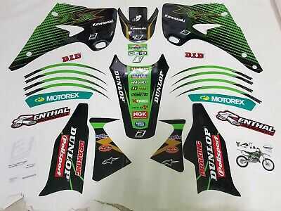 Kit Adesivi Grafiche Graphics Stickers Blackbird Kawasaki Kx 125 250 2007