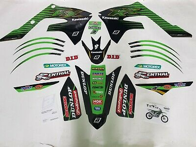 Kit Adesivi Grafiche Graphics Stickers Blackbird Kawasaki Kxf 450 2019 2020