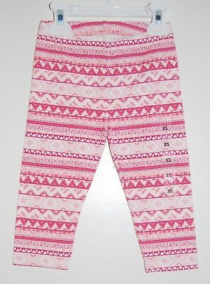 NWT The Children's Place Little Girls Coral Pink Tribal Print Leggings sz XS / 4