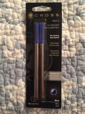 Cross BLUE Rolling Ball Refill 2 Pack for Selectip Pen 2 Refills 8521-2 SEALED