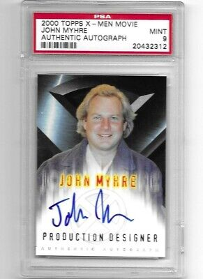 2000 Topps X-Men Movie John Myhre Autograph PSA MINT 9