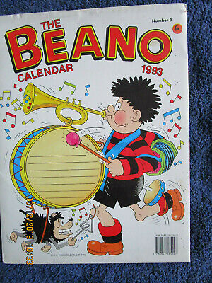Beano Calendar 1993 Unmarked With Original Envelope
